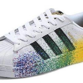 baskets-adidas-superstar-de-couleur-blanche
